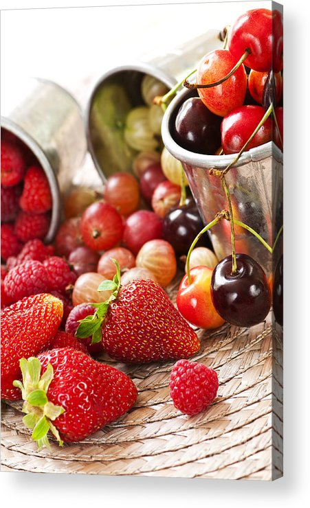 Fruits Acrylic Print featuring the photograph Fruits And Berries by Elena Elisseeva