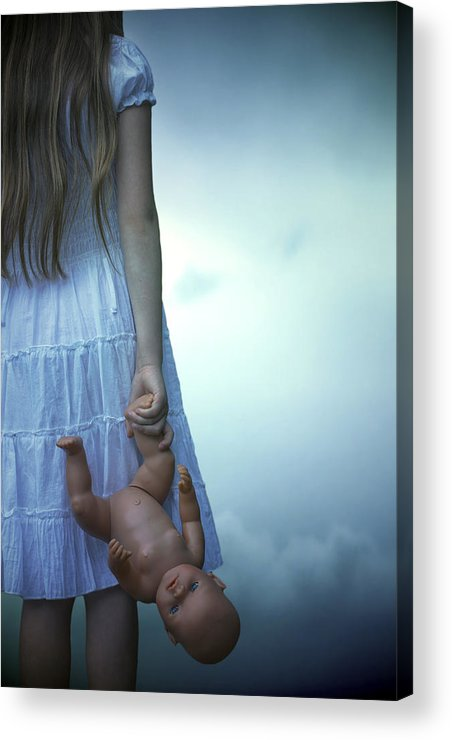 Girl Acrylic Print featuring the photograph Girl With Baby Doll by Joana Kruse