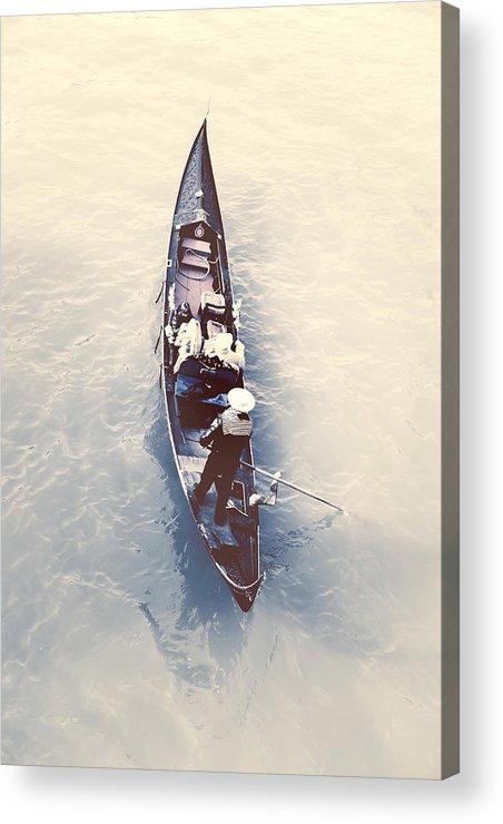 Gondola Acrylic Print featuring the photograph gondola - Venice by Joana Kruse