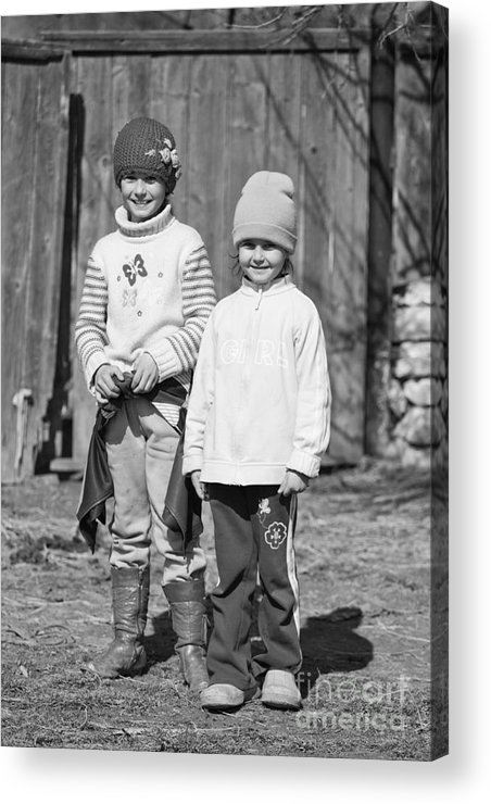 Children Acrylic Print featuring the photograph Innocence by Gabriela Insuratelu
