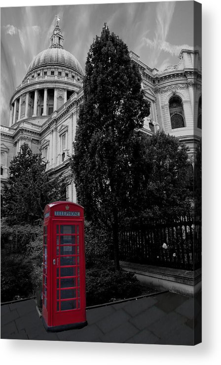 Telephone Box Acrylic Print featuring the photograph Red Telephone Box by Dawn OConnor