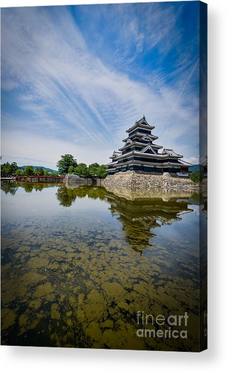 Japan Acrylic Print featuring the photograph Reflected Castle by Samuel Levine