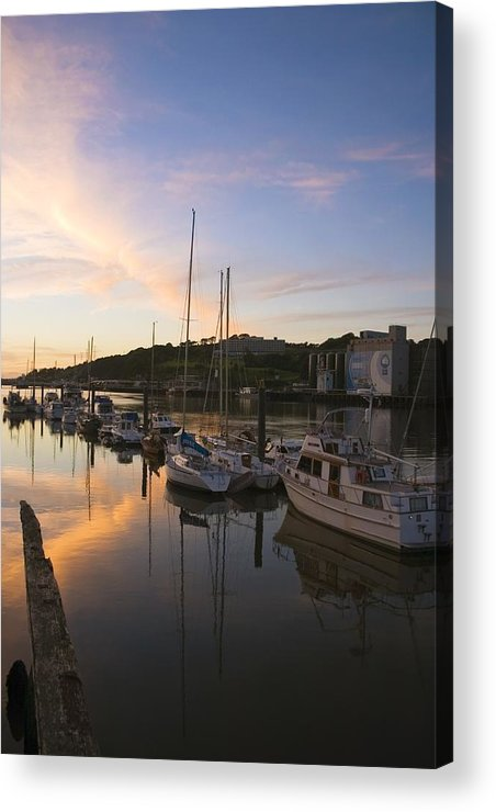 Boat Acrylic Print featuring the photograph River Suir, From Millenium Plaza by The Irish Image Collection