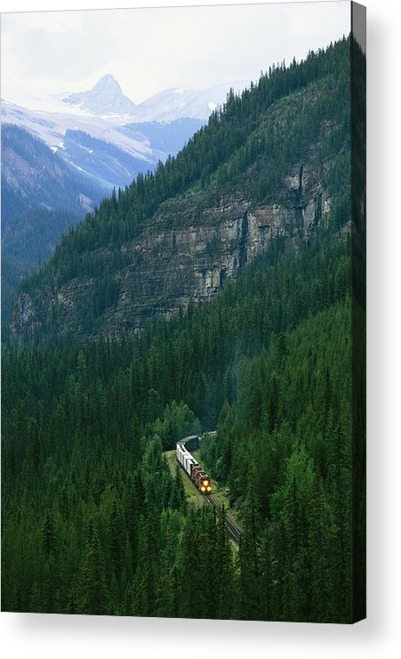 North America Acrylic Print featuring the photograph The Canada Pacific Train Travels by Michael Melford