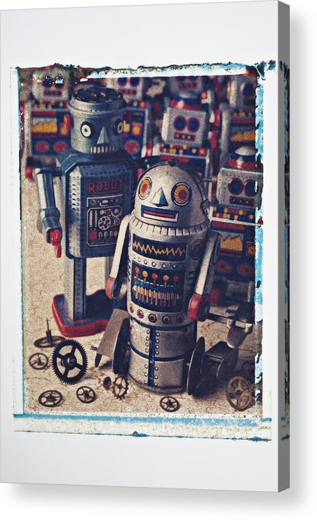 Toy Acrylic Print featuring the photograph Toy Robots by Garry Gay