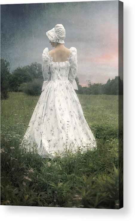 Woman Acrylic Print featuring the photograph Woman With Bonnet by Joana Kruse