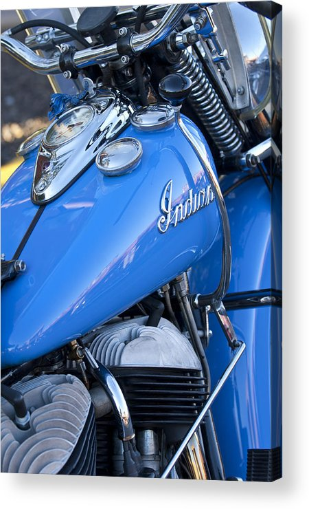 1948 Indian Chief Motorcycle Acrylic Print featuring the photograph 1948 Indian Chief Motorcycle by Jill Reger