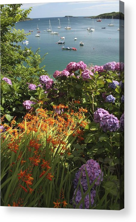 Boat Acrylic Print featuring the photograph Bay Beside Glandore Village In West by Trish Punch