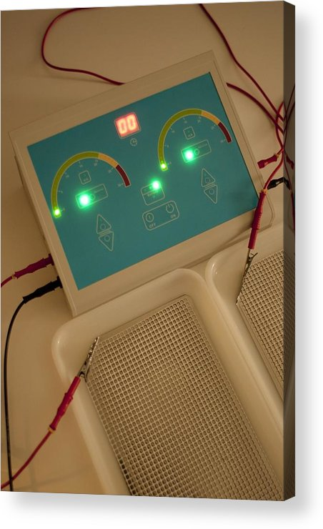 Technology Acrylic Print featuring the photograph Iontophoresis Equipment by