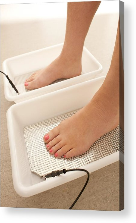 Indoors Acrylic Print featuring the photograph Iontophoresis For Excess Sweating by