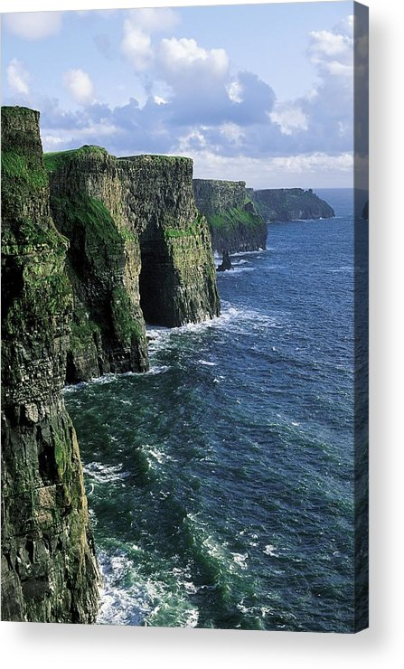 Clare Acrylic Print featuring the photograph Cliffs Of Moher, Co Clare, Ireland by The Irish Image Collection