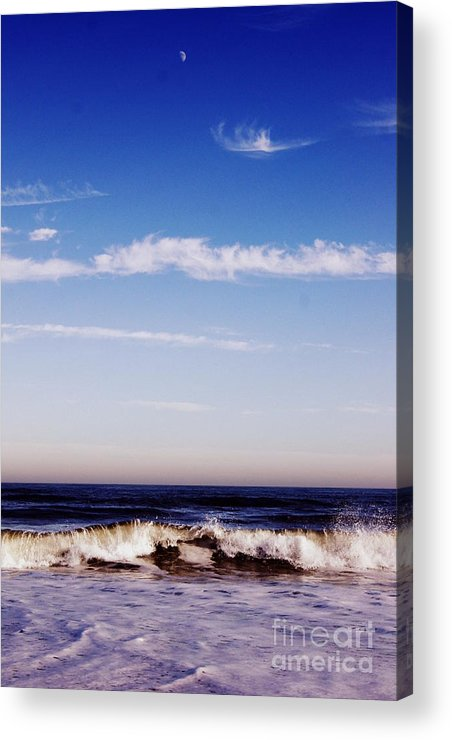 Ocean Acrylic Print featuring the photograph Moon Rising by Tessa Murphy