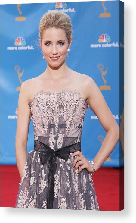 Dianna Agron Acrylic Print featuring the photograph Dianna Agron Wearing A Carolina Herrera by Everett