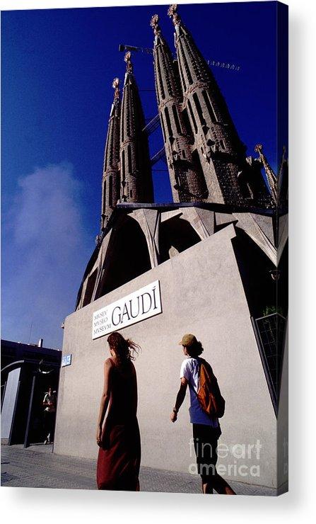 Barcelona Acrylic Print featuring the photograph Barcelona by Xavier Marti Alavedra