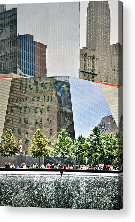 9 Acrylic Print featuring the photograph 9/11 Memorial by Gwyn Newcombe
