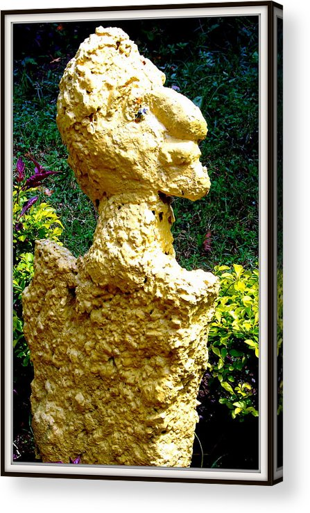 Sculptures Acrylic Print featuring the sculpture A Profile Of A Man by Anand Swaroop Manchiraju