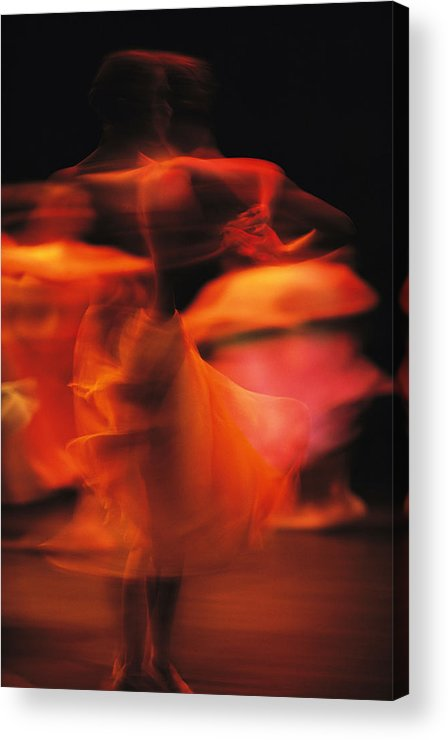 Africa Acrylic Print featuring the photograph A Time-exposed View Of A Performance by Michael Nichols