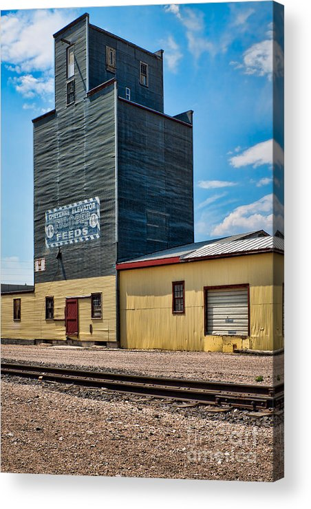 Abandoned Acrylic Print featuring the photograph Abandoned Feed Elevator by Lawrence Burry
