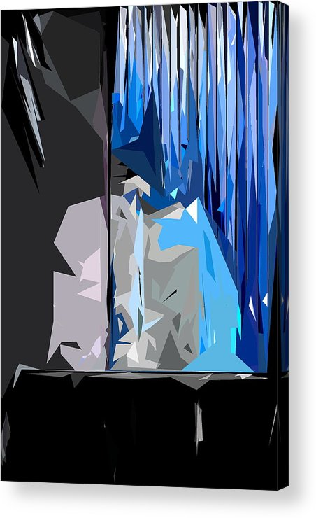 Abstract Acrylic Print featuring the photograph Abstract 23 by Burney Lieberman