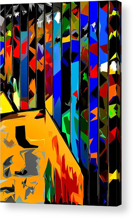 Abstract Acrylic Print featuring the photograph Abstract 26 by Burney Lieberman