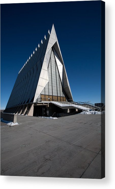 Church Acrylic Print featuring the photograph Air Force Accadamy Chapel by Dennis Hofelich