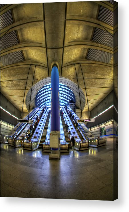 London Acrylic Print featuring the photograph Alien Landing by Evelina Kremsdorf