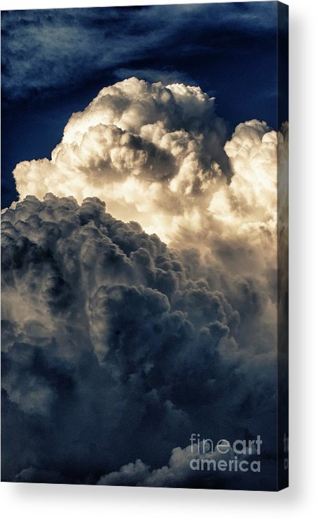 Clouds Acrylic Print featuring the photograph Angels And Demons by Syed Aqueel