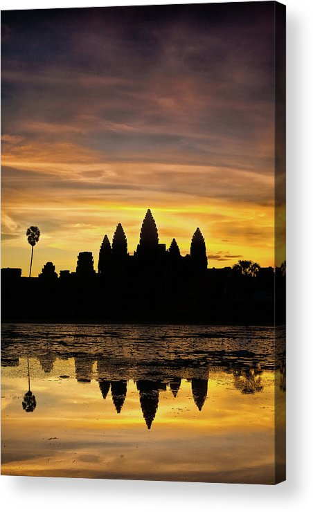 Cambodia Acrylic Print featuring the photograph Angkor Wat At Sunrise II by Stefan Nielsen