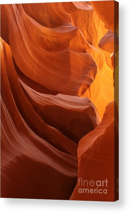 Landscape Acrylic Print featuring the photograph Antelope Canyon 1 by Angela Q