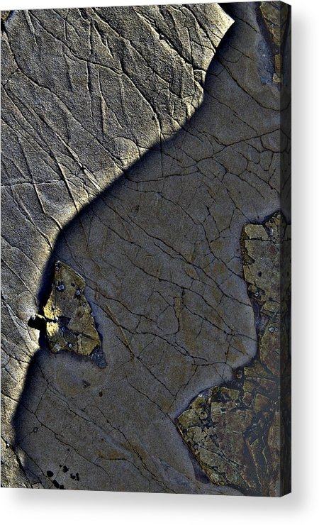 Beach Acrylic Print featuring the photograph Beach Stone3 by Rob Outwater
