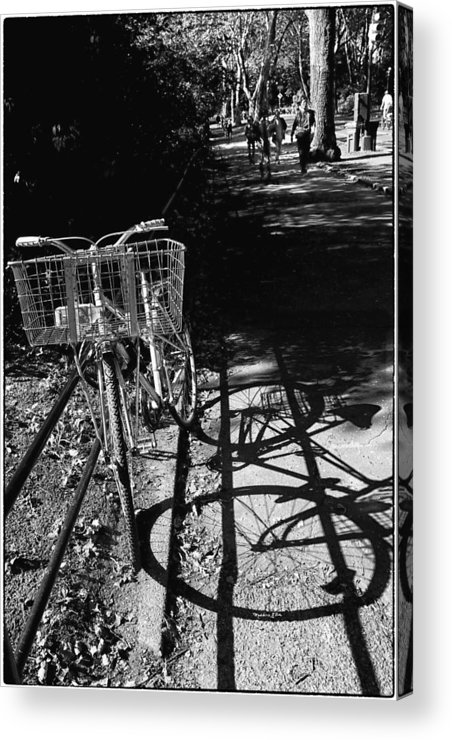 Bike Acrylic Print featuring the photograph Bicycle Shadow 2 by Madeline Ellis