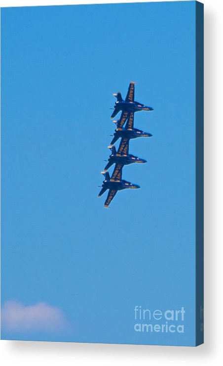 Blue Angels Acrylic Print featuring the photograph Blue Angels 14 by Mark Dodd