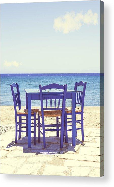 Chair Acrylic Print featuring the photograph Blue by Joana Kruse