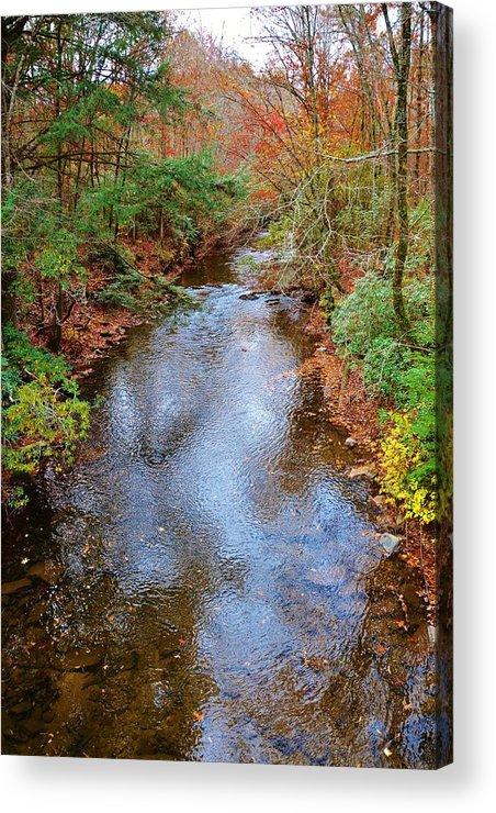 Blue Ridge Mountain Acrylic Print featuring the photograph Blue Ridge Mountain Stream Too by Marc Mesa
