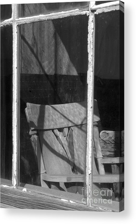 Sandra Bronstein Acrylic Print featuring the photograph Bodi Ghost Town Window by Sandra Bronstein