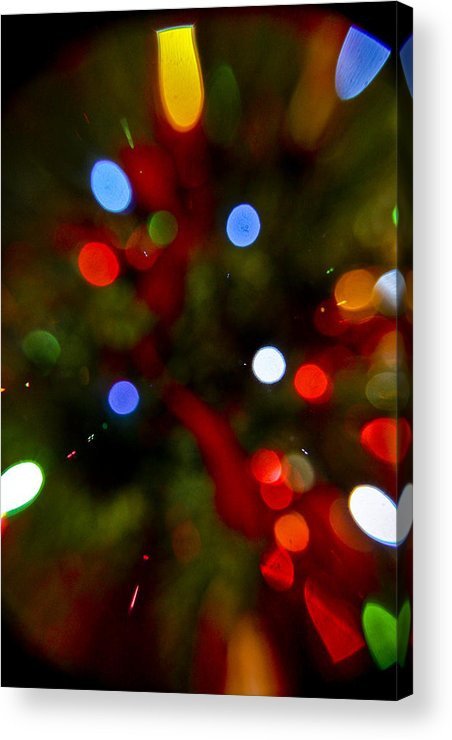 Holiday Acrylic Print featuring the photograph Bokeh Of Lights by Greg Sharpe
