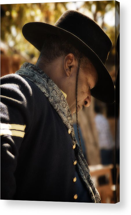 Western Acrylic Print featuring the photograph Buffalo Soldier by Toni Hopper