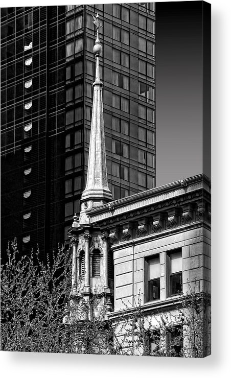 Steeple Acrylic Print featuring the photograph Building Steeple by Andre Salvador