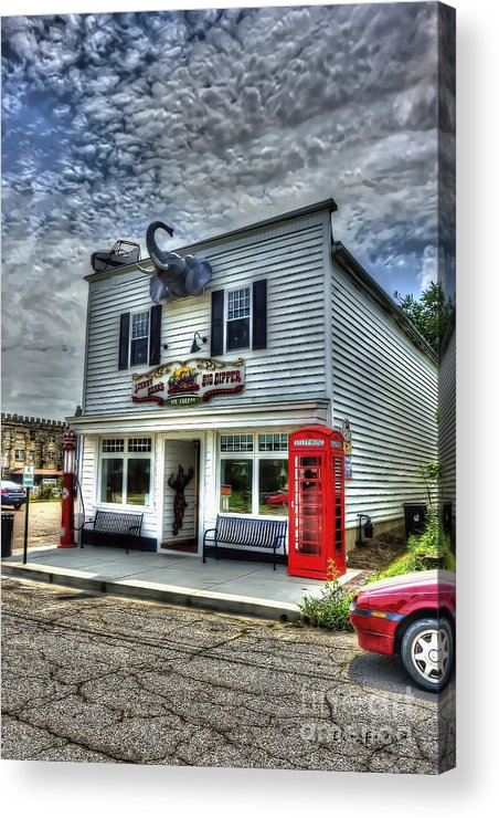 Business Acrylic Print featuring the photograph Business In Moundsville Wv by Dan Friend