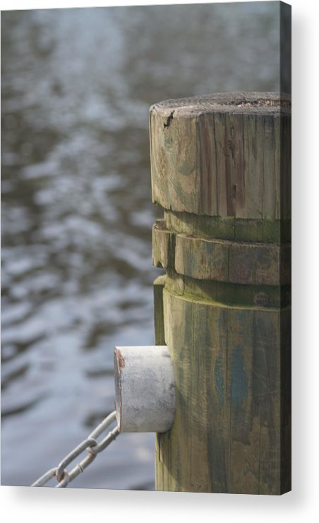 Piling Acrylic Print featuring the photograph By The River by Lou Belcher