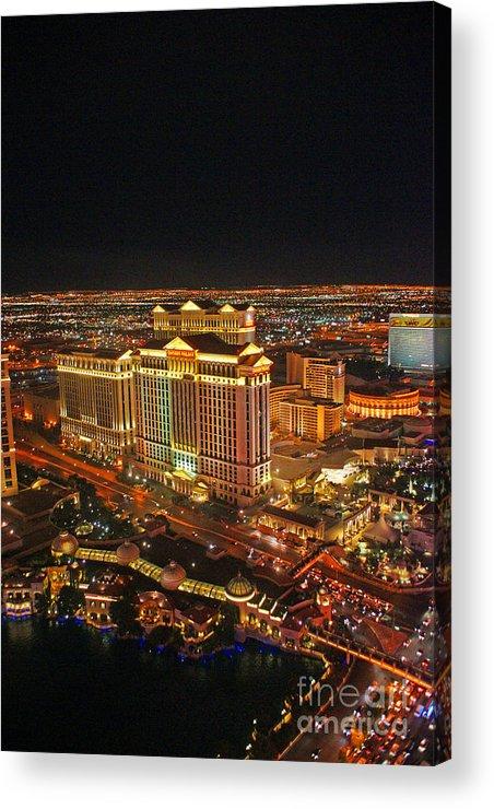 Las Vegas Acrylic Print featuring the photograph Caesars Palace by Randy Harris