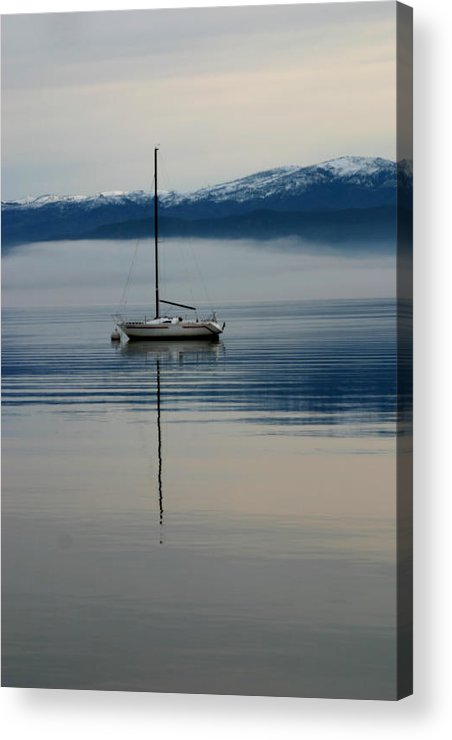 Boats Acrylic Print featuring the photograph Calm Before The Storm by Kerri Childress