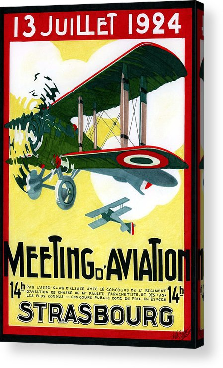 Aviation Art Acrylic Print featuring the mixed media Carrie Deco by Lyle Brown