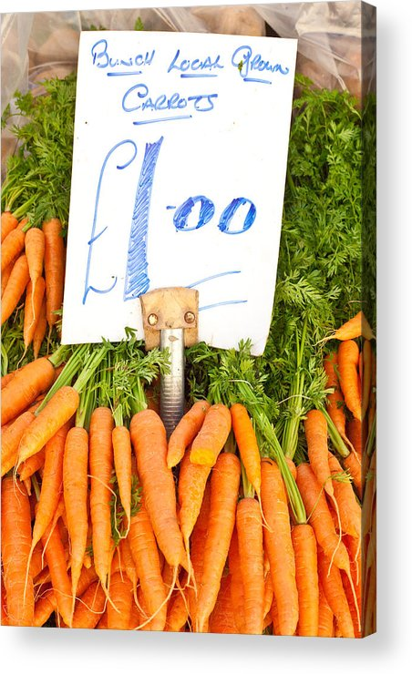 Carrots Acrylic Print featuring the photograph Carrots by Tom Gowanlock