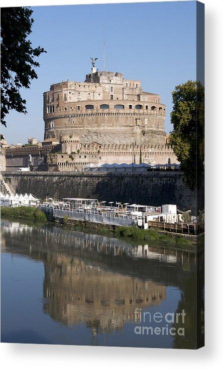 Tiber Acrylic Print featuring the photograph Castel Sant'angelo Castle. Rome by Bernard Jaubert