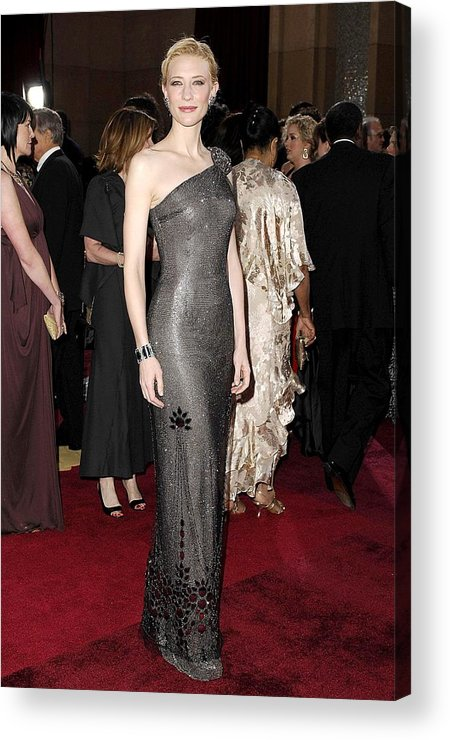 Oscars 79th Annual Academy Awards - Arrivals Acrylic Print featuring the photograph Cate Blanchett Wearing Armani Prive by Everett