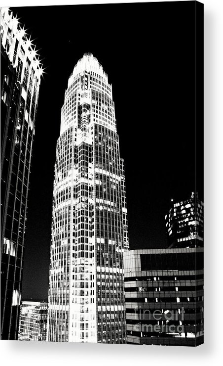 Charlotte Acrylic Print featuring the photograph Charlotte North Carolina Bank Of America Building by Kim Fearheiley