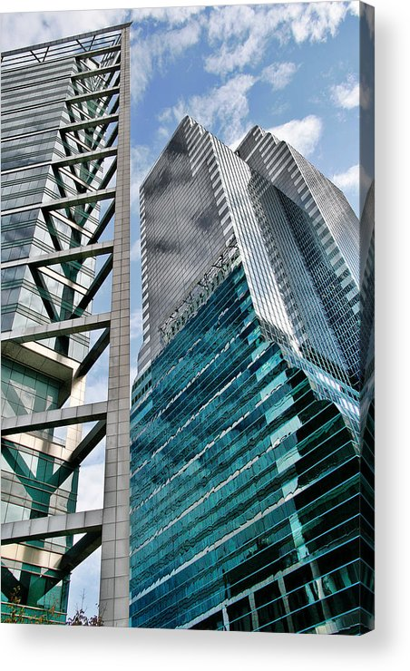 Downtown Acrylic Print featuring the photograph Chicago - A Sophisticated Finance Hub by Christine Till