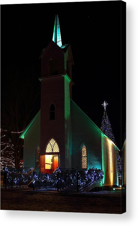 Hovind Acrylic Print featuring the photograph Christmas Church by Scott Hovind