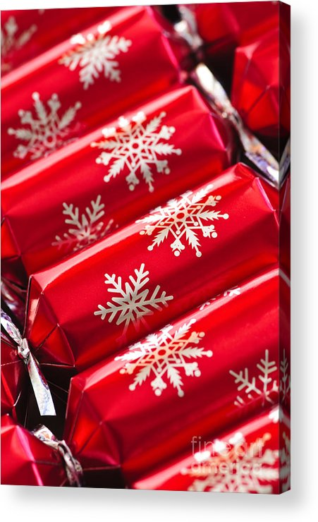 Christmas Acrylic Print featuring the photograph Christmas Crackers by Elena Elisseeva